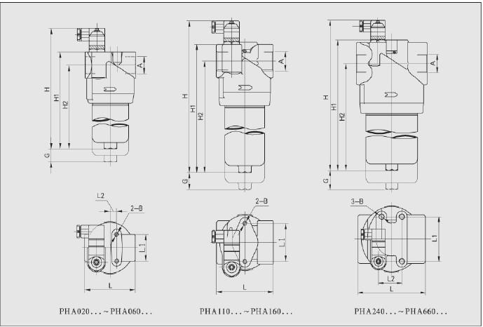 一、PHA系列压力管路过滤器技术参数 工作介质:矿物油、乳化液、水-乙二醇、磷酸酯液压液(木棉定性滤纸仅适用于矿物油) 工作压力(max):42MPa 工作温度:-25摄氏度-110摄氏度 发讯器发讯压力差:0.5MPa 旁通阀开启压差:0.6MPa 二、PHA系列压力管路过滤器系列型普  三、额定流量下的清洁滤芯压降  四、PHA系列压力管路过滤器图示
